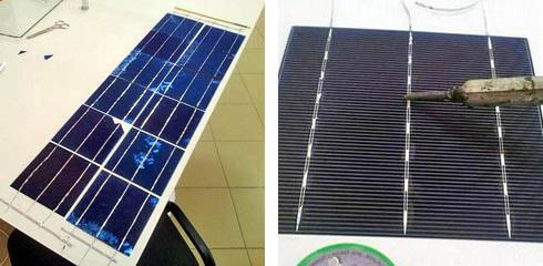 Неправильная сборка солнечных батарей