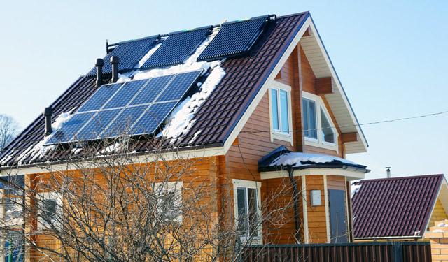 Дом с солнечным тепло- и электроснабжением