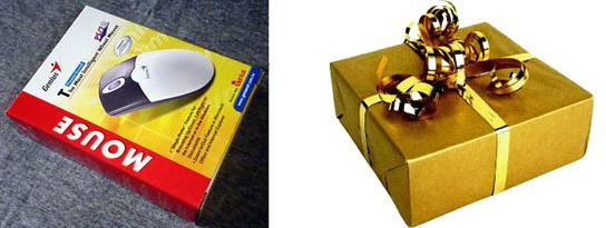 Елочная игрушка из коробочки