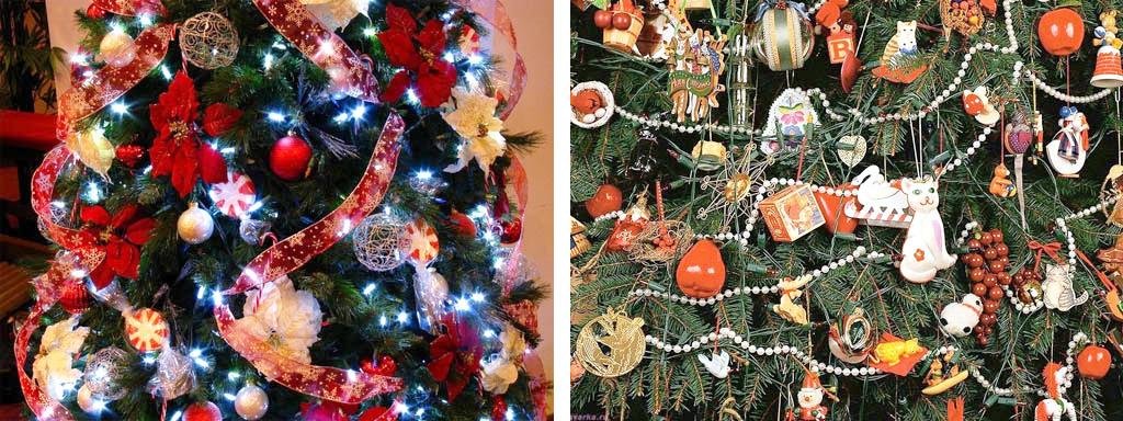 Украшение новогодних елок с самоделками