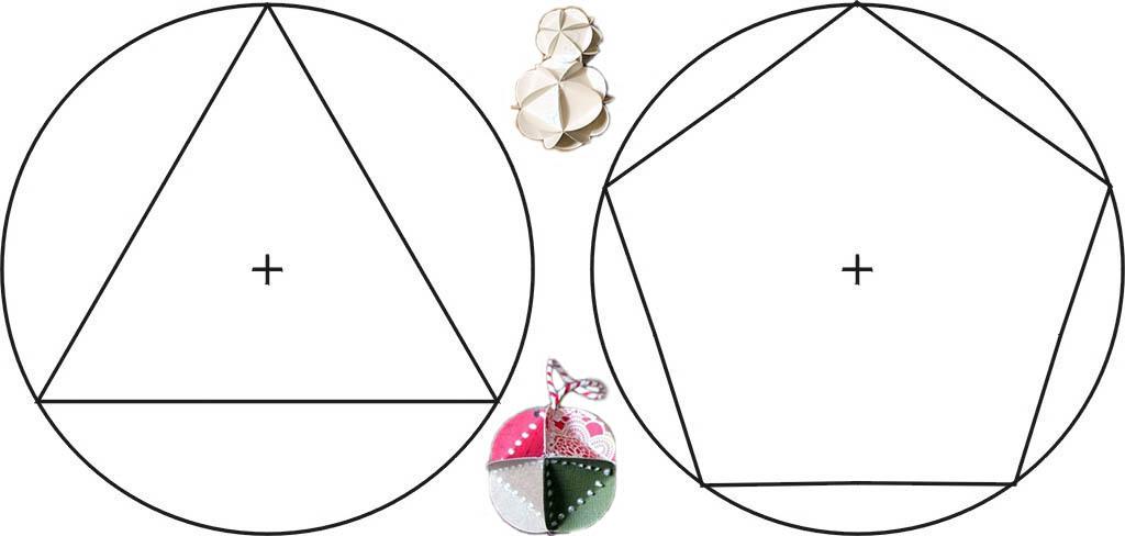 Шаблоны для елочных шаров из многогранников