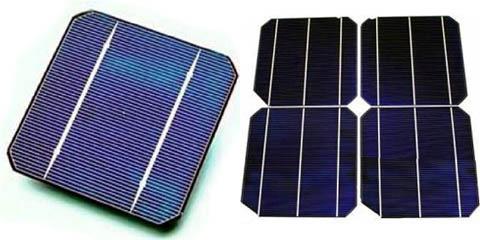 Поликристаллический и монокристаллические модули солнечных батарей