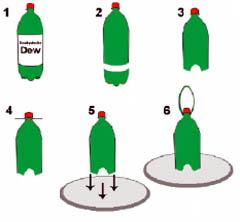 Изготовление бункерной кормушки для птиц из бутылки