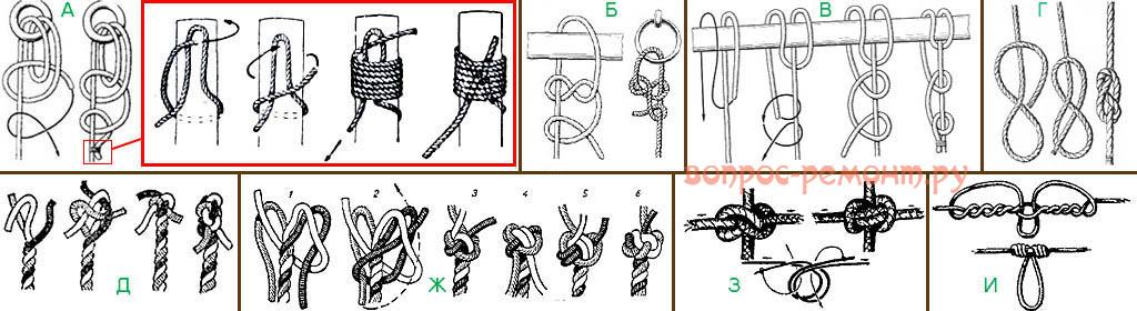 Морские узлы для качелей