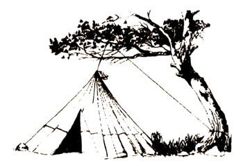 Как навесить шатер