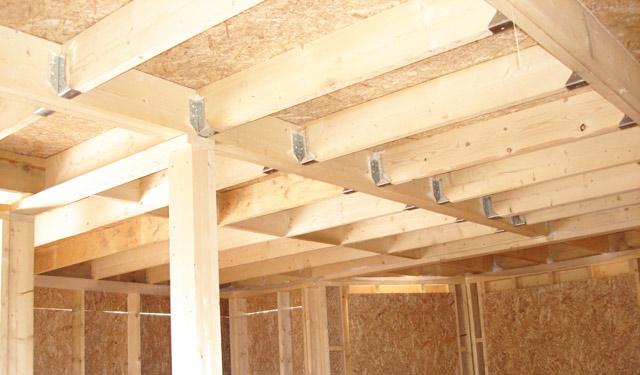 Каркас потолка на металлических тонкостенных соединителях