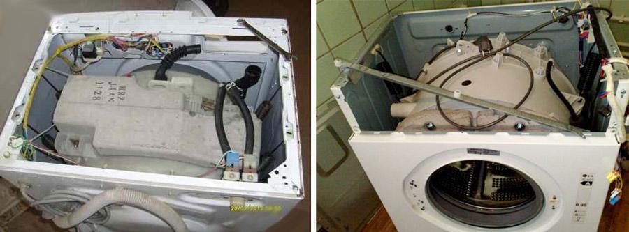 Частично разобранные стиральные машины