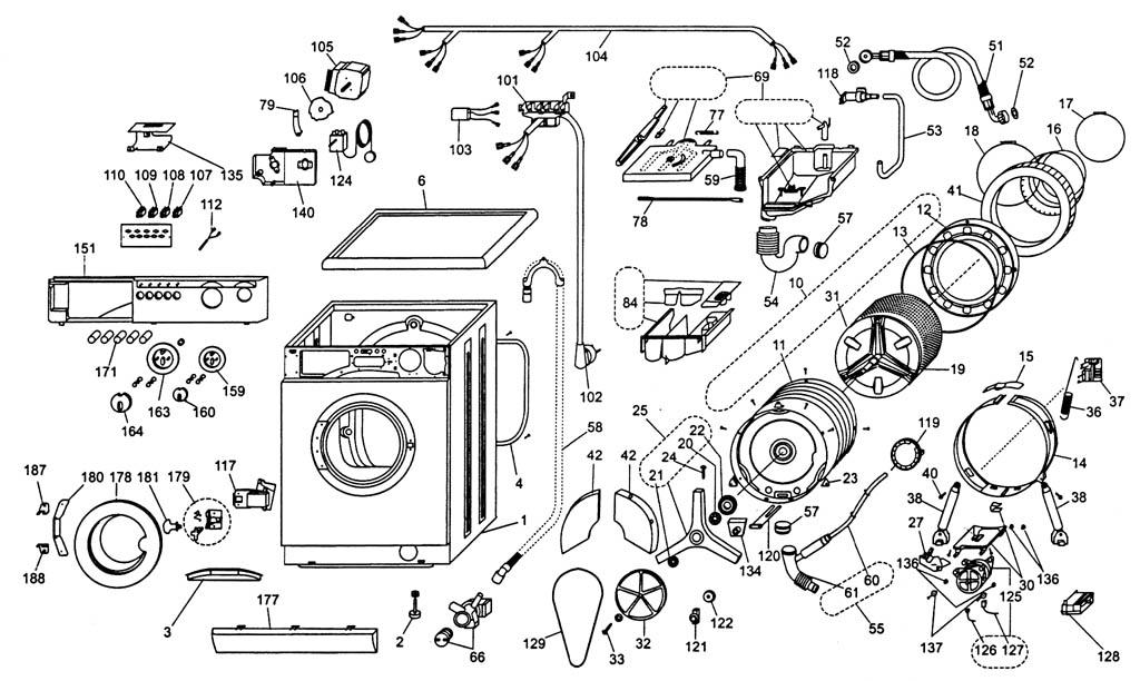Деталировка стиральной машины
