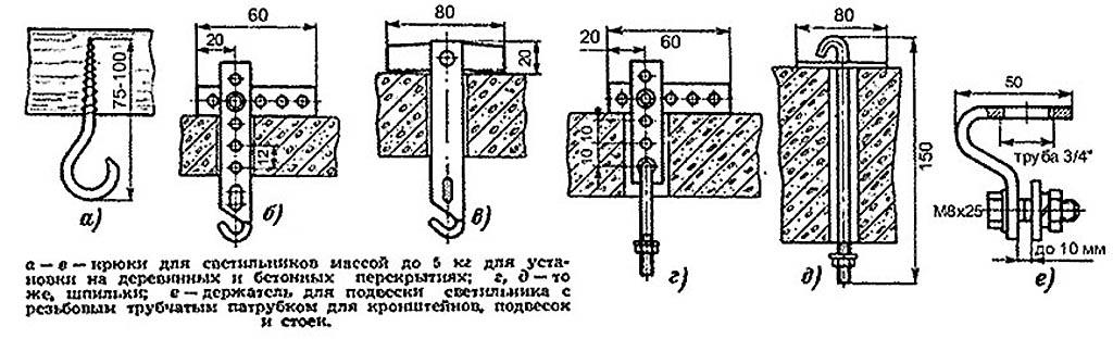 Арматура для 1-точечного подвеса светильника к потолку