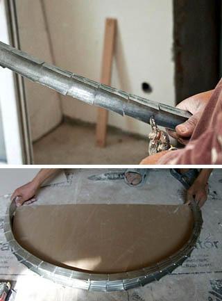 Подготовка металлопрофиля для дуг свода арки