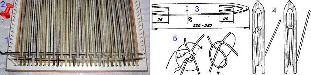 Ткацкое оборудование из подручных материалов для ковров
