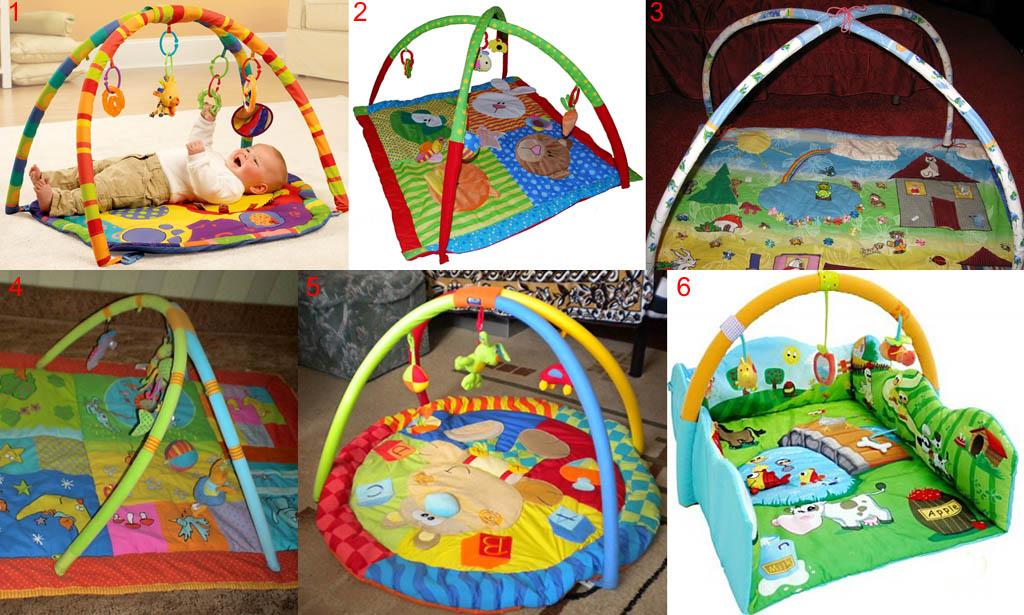 Детские развивающие коврики с дугами