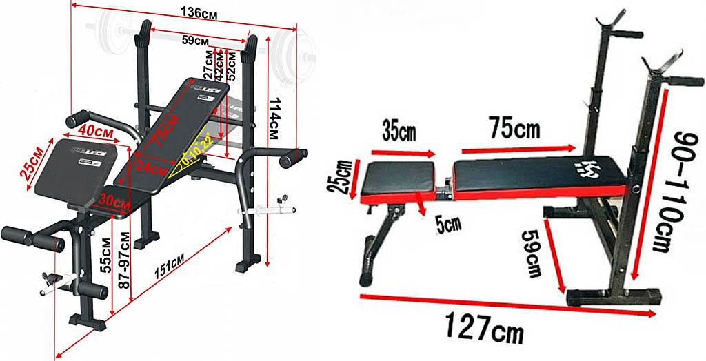 Размеры домашних тренажеров для людей среднего роста