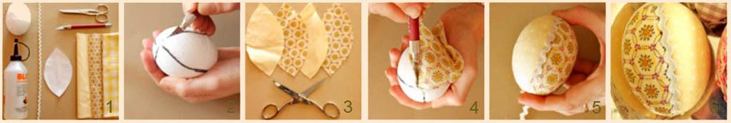 Декорирование пасхального яйца салфеткой