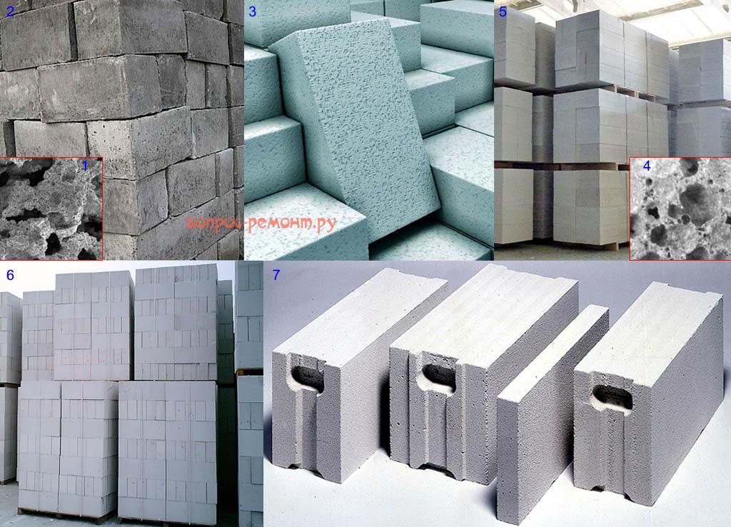 Виды и структуры строительных блоков из пенобетона и газобетона
