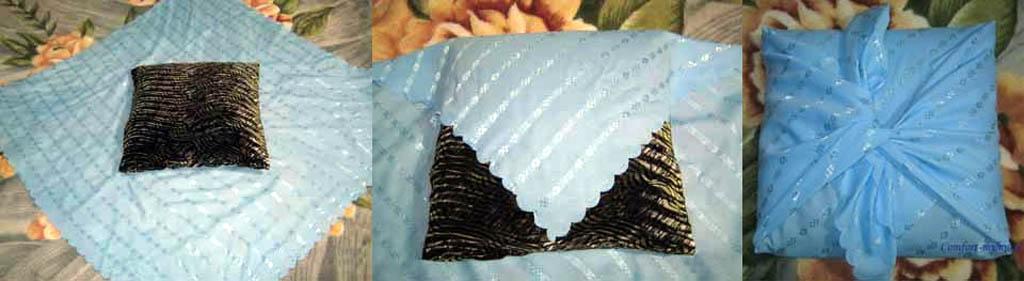 Изготовление бесшовной декоративной подушки