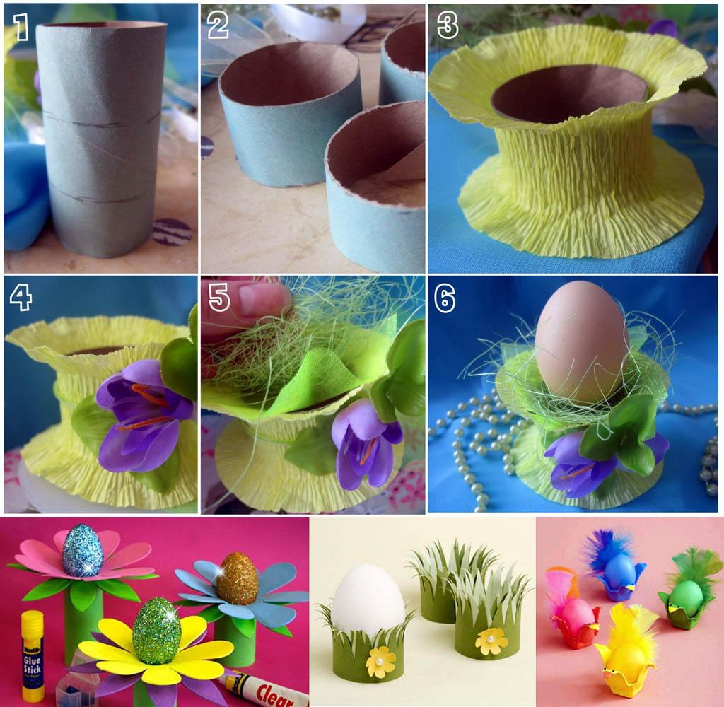 Самодельные подставки для пасхальных яиц