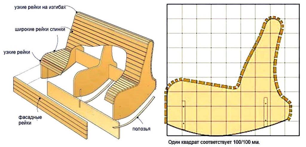 Садовая скамья-качалка