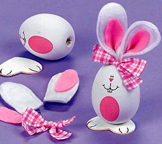 Пасхальный зайчик-яйцо