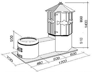 Размеры коптильни-гриль Apetit