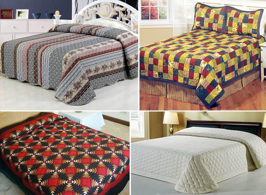 Одеяла самодельные и фабричное