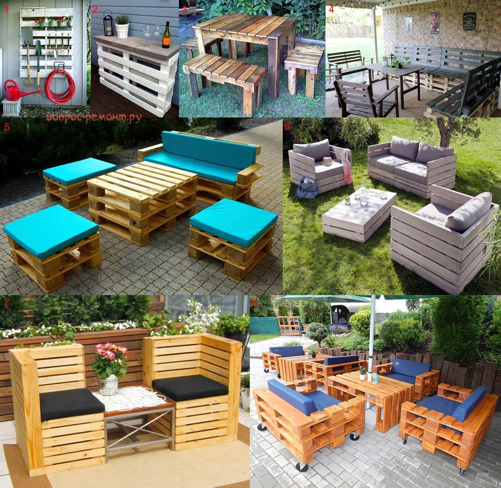 Дачная и садовая мебель из паллет