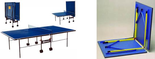 Складные теннисные столы
