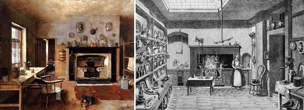 Интерьеры старинных кухонь