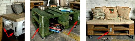 Сборка мебели из поддонов на стальных накладках