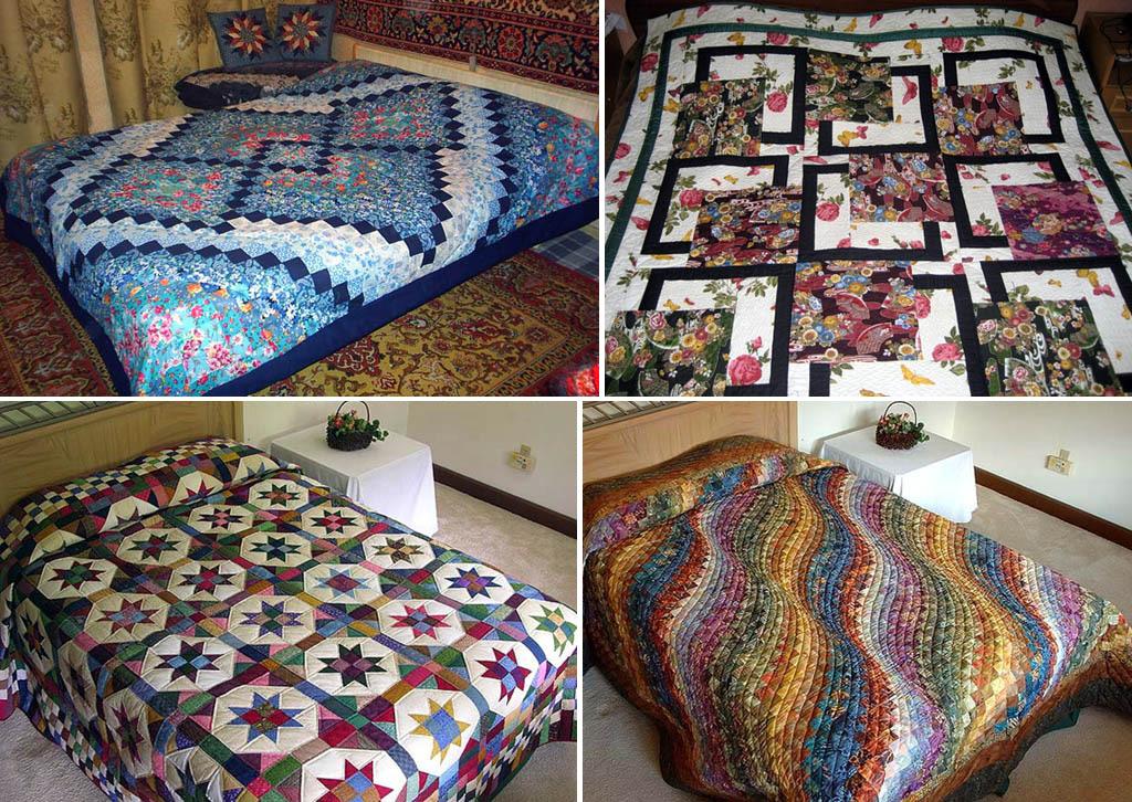 Фото одеял в технике пэчворк