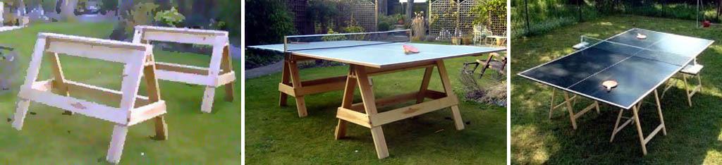 Простейшие дачные теннисные столы