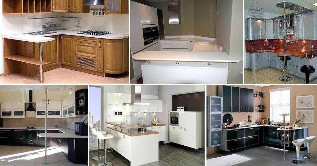 Кухонные уголки с барными стойками