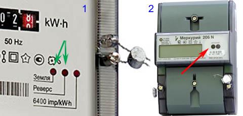 Электросчетчики с аварийной индикацией и оптическим портом для программирования