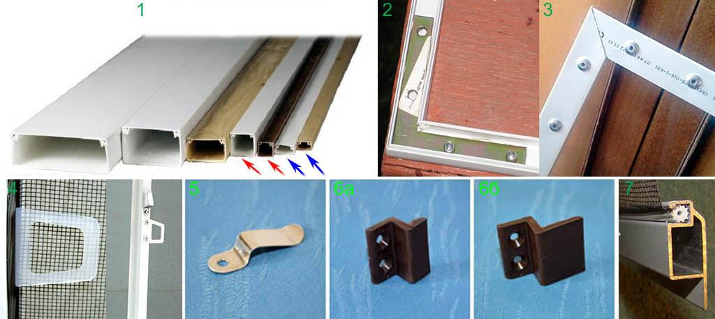 Заготовки, детали и соединения самодельной рамы противомоскитной сетки