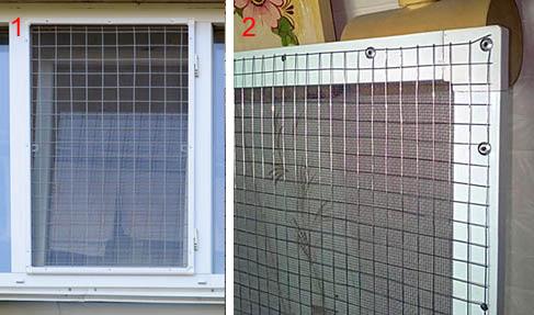 Стальные сетки Антикошка на окно