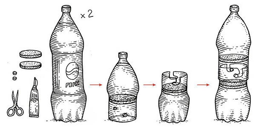 Тайник из бутылки
