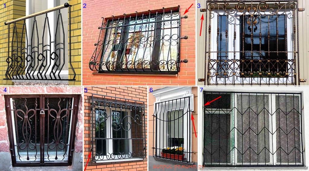 Ошибки при установке решеток в окна
