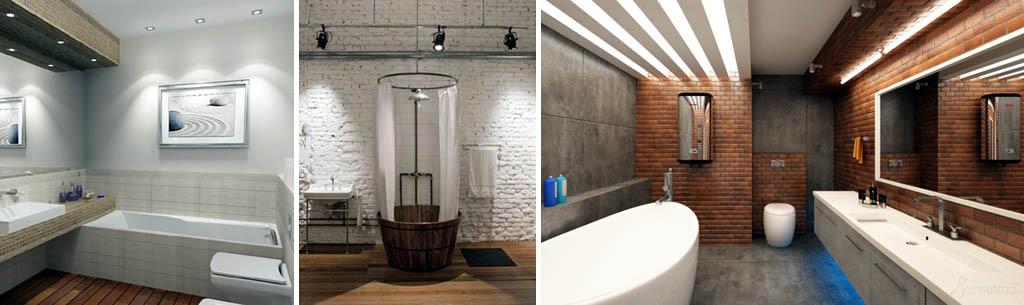 Ванные в стиле лофт