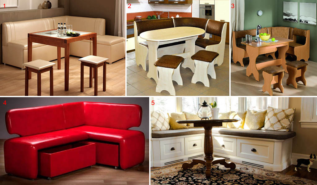 Столы и ящики для кухонных уголков