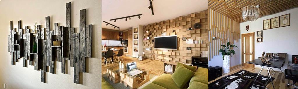Декор стен и потолка досками
