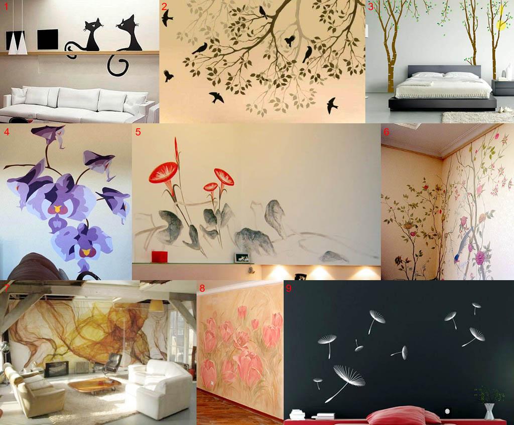 Росписи стен в различных техниках