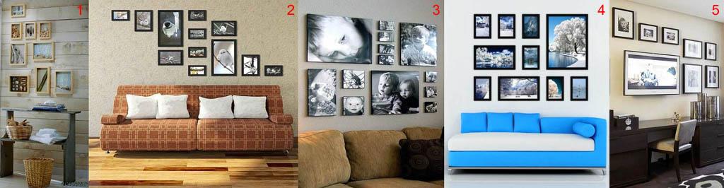 Фотографии и картинки на стенах