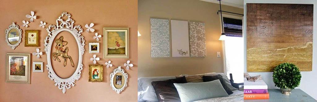 Декор стен имитацией лепнины и панно