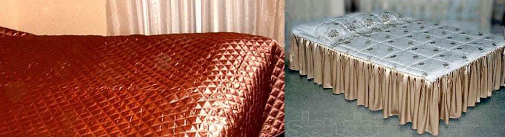 Стеганые покрывала для кровати со швом посередине и сборное