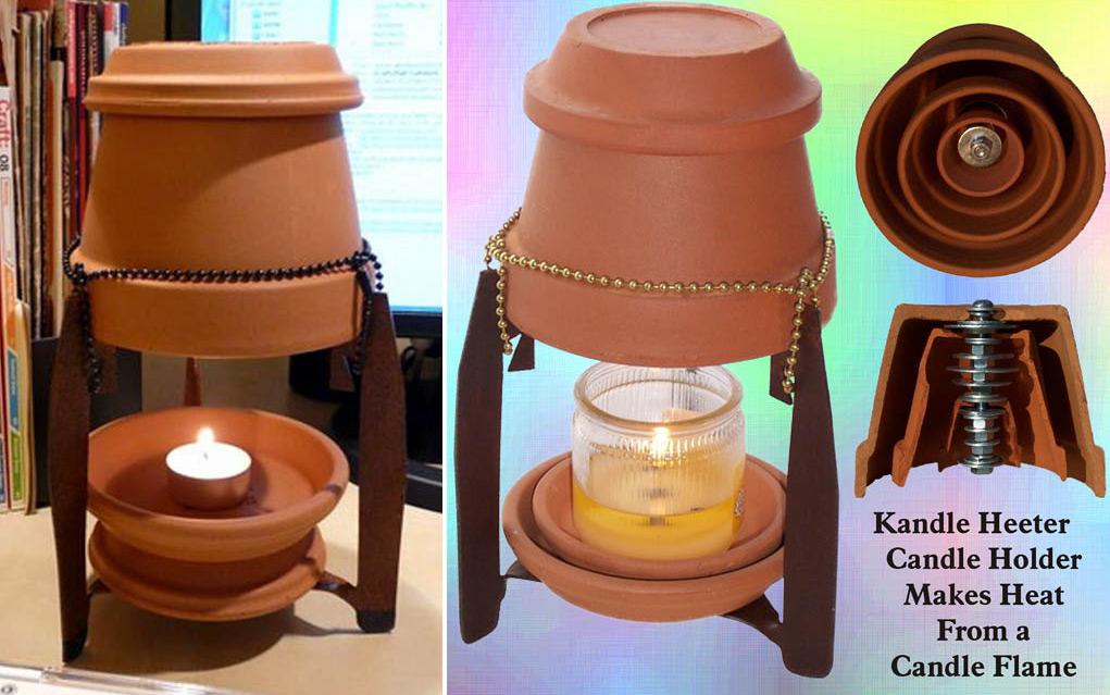 Домашний мини-обогреватель от свечи