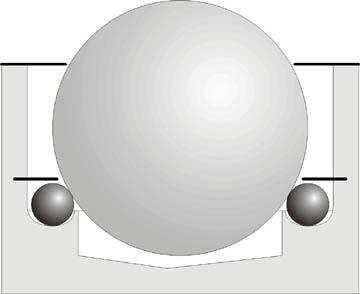 Устройство шарикового манипулятора для выработки у ребенка двухкоординатных моторных навыков.
