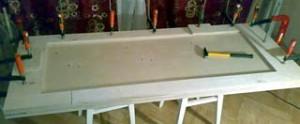 Изготовление верстачной доски из фанеры
