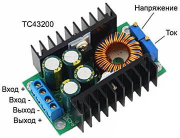 Регулятор напряжения, тока и мощности паяльника на микросхеме TC43200