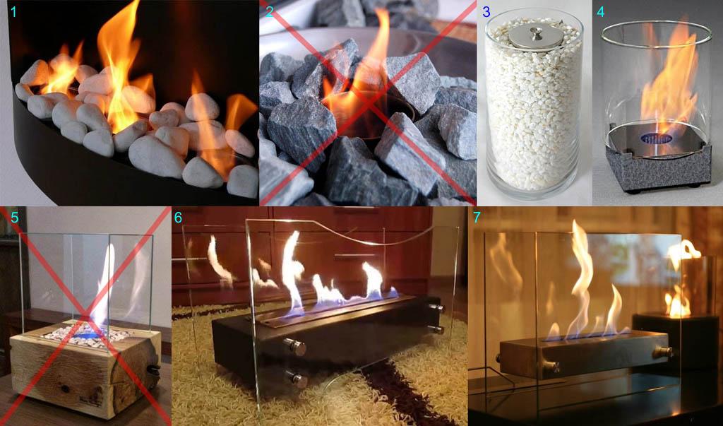 Способы расцвечивания пламени биокамина