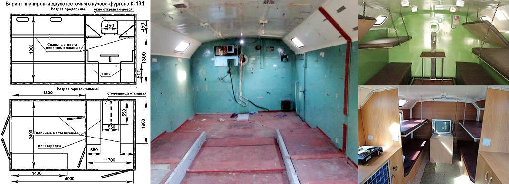 Оборудование кунга под компактный дачный домик